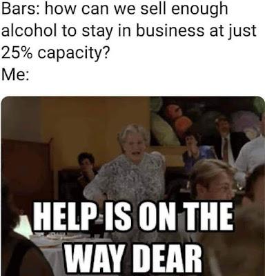 Mrs. Doubtfire coronavirus meme