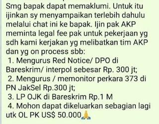Urus Red Notice di Bareskrim Senilai Rp 300 Juta, Isi Chat Lawyer Djoko Chandra Terbongkar