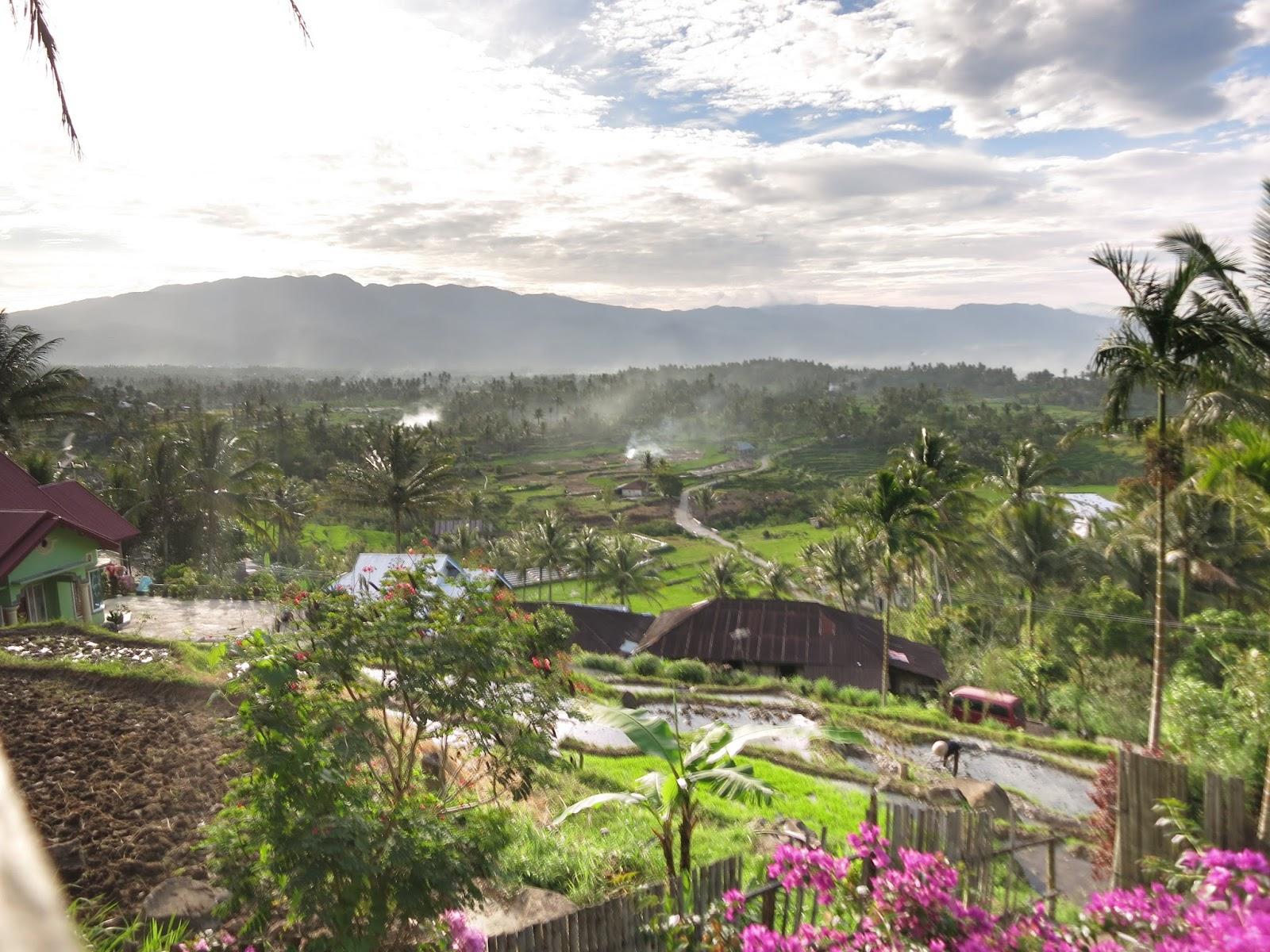 Pemandangan dari Cottage pemandian air panas bukik gadang