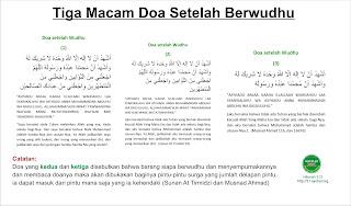 3 Macam Doa setelah berwudhu dan mana yang afdol