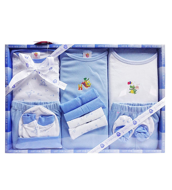 Unisex Born Baby Gift Set-13 Pieces (Fits for Born baby,1-3 Months Baby)
