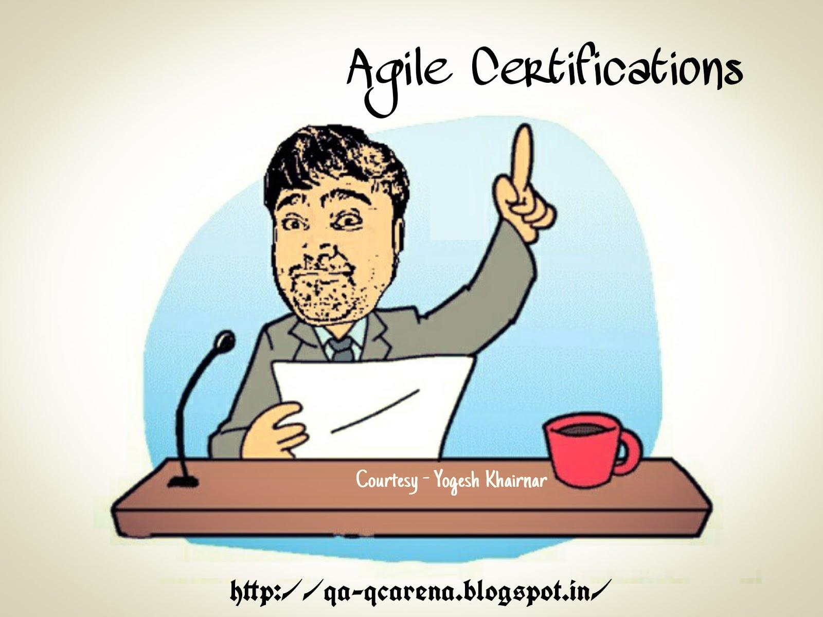 Qa Qc Arena Agile Certifications