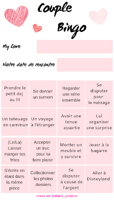 template instagram couple bingo