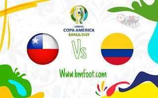 ملخص مباراة كولومبيا ضد تشيلي مباشرة اليوم ربع نهائي كوبا امريكا 2019