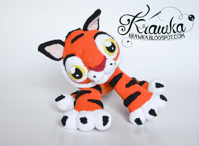 Krawka: Baby Tiger Rajah crochet pattern inspired on tiger character from Disney's movie Aladdin