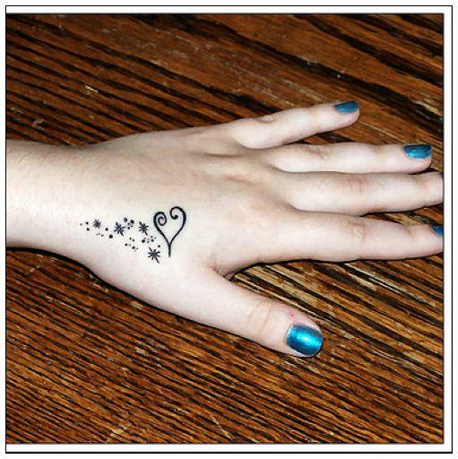 heart hand tattoo design fashion for girls
