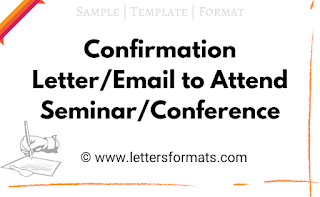 confirmation letter to attend a seminar