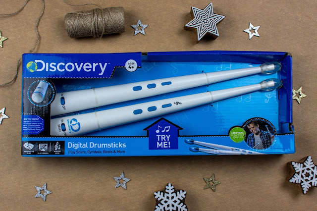 Discovery Digital Drumsticks from Essential One in their box