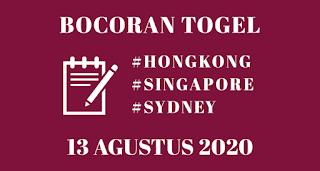 Bocoran Togel HK 13 Agustus 2020