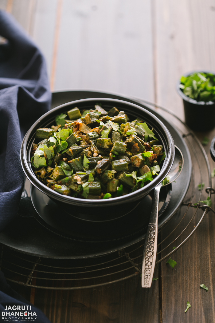 Kashmiri bhindi is a light, quick and vegan dish that is sure to tickle your fancy. It also works just as well as a side dish.