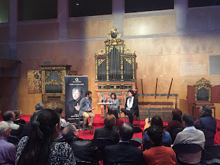 Resum fotogràfic de la trobada amb J. M. Cañizares i Montserrat Grau