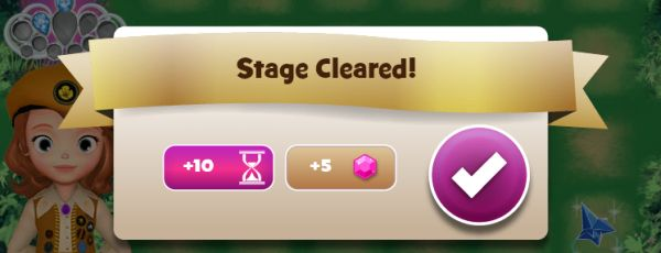 Stage cleared! You earned some bonus gems!