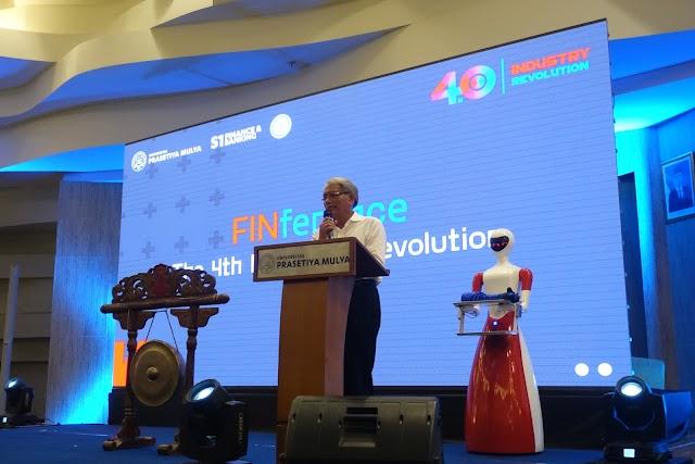 APTIKNAS hadir di FINference Universitas Prasetiya Mulya 21 Sep 2019 Menampilkan produk Robot Service dari PT Kota Cerdas Indonesia