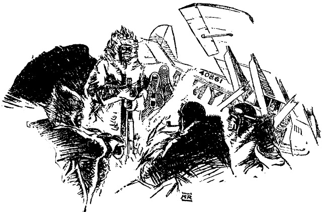 Illustration for Adventure, May 15 1933 - Campfire