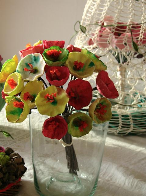centrotavola, decorazioni, addobbi per un Natale 2016 in stile botanico con fiori di carta