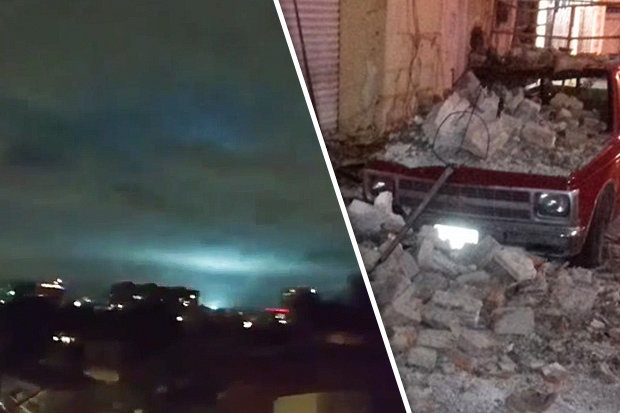 Terrifying Footage Of Bizarre Lights In Sky After Massive Killer Earthquake Hits Mexico