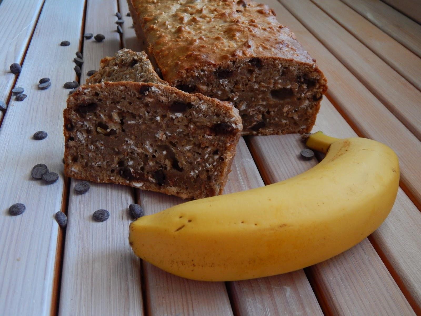 Banánový ovesný chlebíček