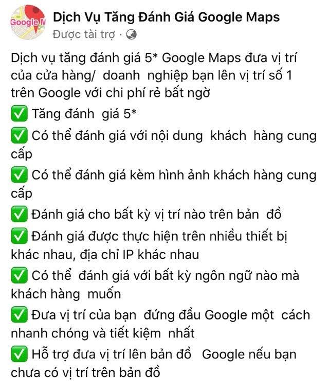 Dịch vụ đánh giá Google Business và đăng link web lên GMB
