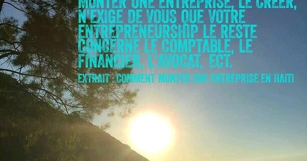 haiti droit investissement comment monter une entreprise en haiti