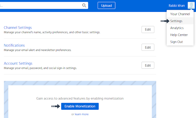 enable dailymotion onetization