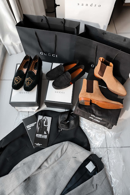 Gucci loafers, Saint Laurent Chelsea Boots