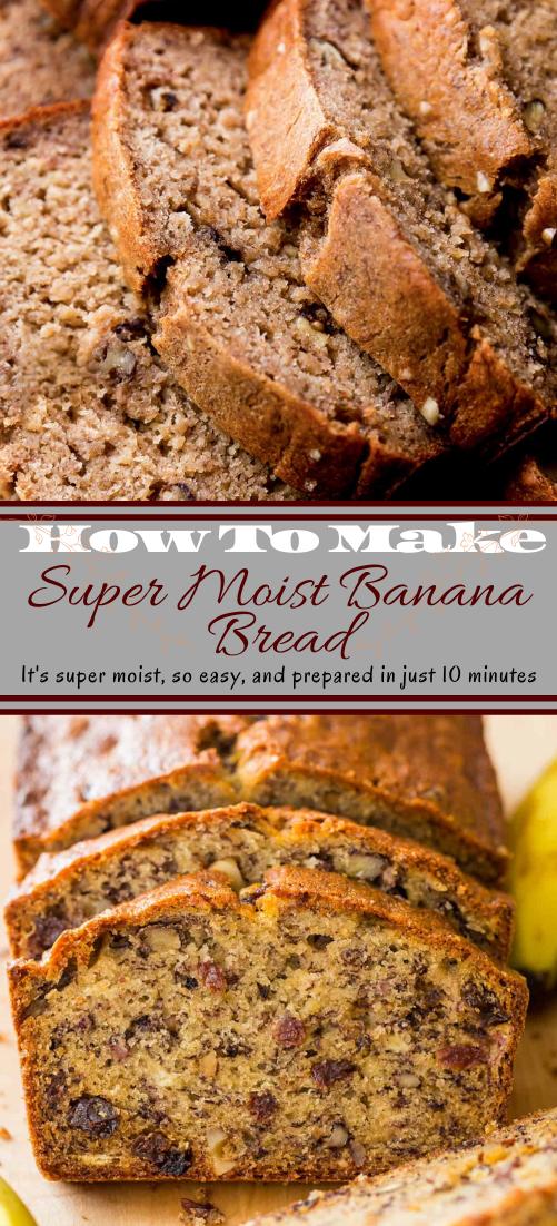 Super Moist Banana Bread #vegan #vegetarian #soup #breakfast #lunch