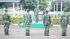 Dandim Pekalongan Pimpin Korps Raport dan Tradisi Masuk Satuan Anggota Baru