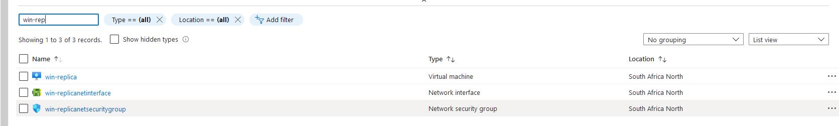 Azure VM objects