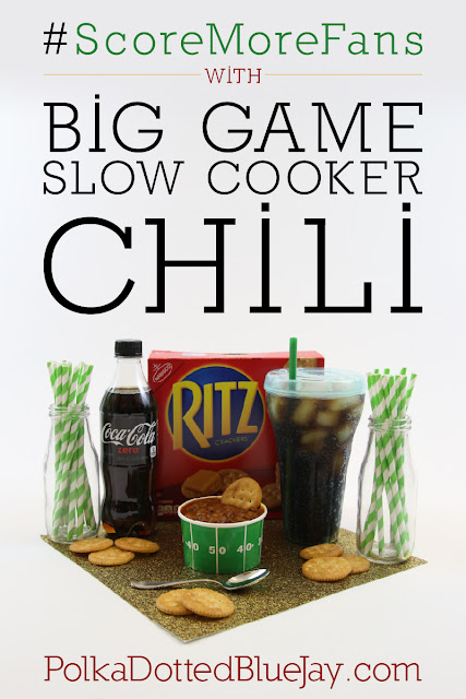 If you're looking for an easy meal to serve at your next big football gathering, this slow cooker chili is a perfect option for serving a crowd of hungry fans. Pair with RITZ® crackers and Coke Zero for a perfect party spread and #ScoreMoreFans!