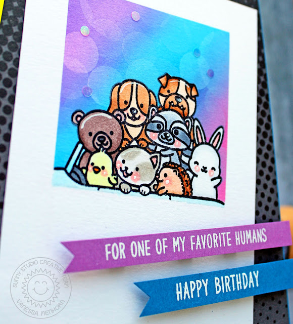 Sunny Studio Stamps: Cruising Critters Birthday Cards by Vanessa Menhorn