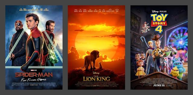 Spider-Man Far From Home, Daleko od domu, Król Lew, Lion King, Toy Stroy 4