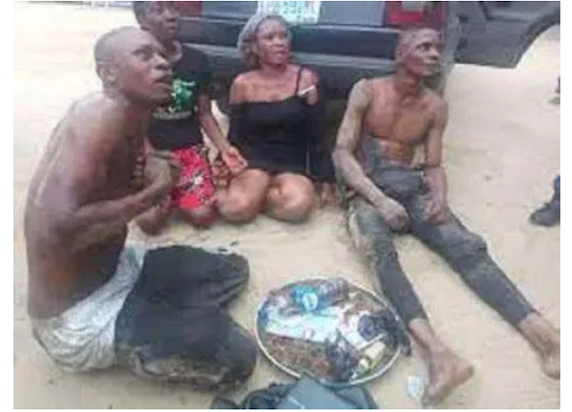 Photos of two slay Queens Arrested by the police for involving themselves in armed robbery gone viral.