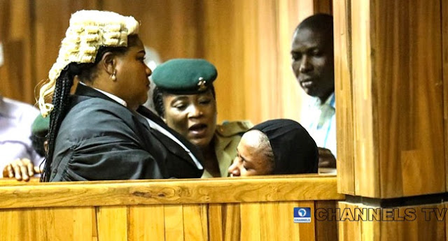 Moment Maryam Sanda Wept Uncontrollably After Being Sentenced To Death For Killing Her Husband (Photos+Video)