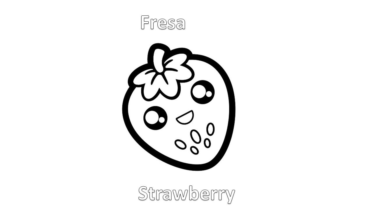 Imagenes para dibujar en Ingles y español: Frutas para Colorear ...
