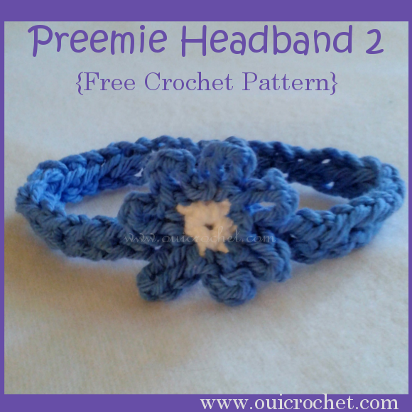 Crochet, Crochet for Charity, Crochet for NICU Babies, Crochet for Preemies, Crochet Headband, Crochet Preemie Headband, Free Crochet Pattern,