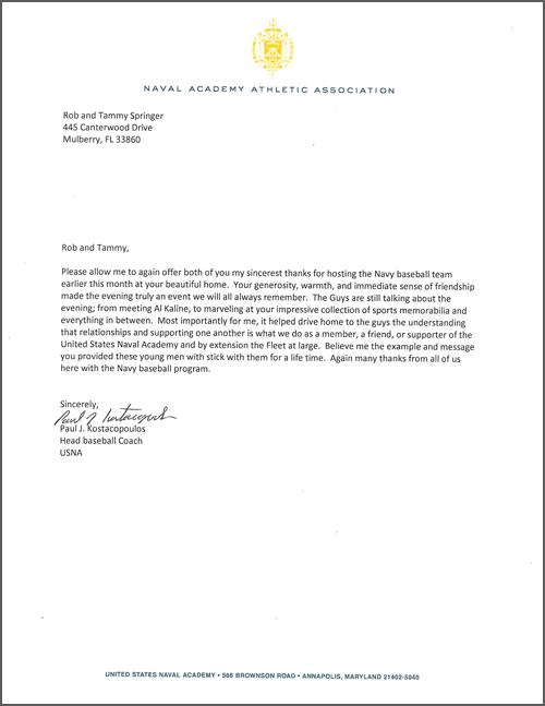 sample naval academy resume