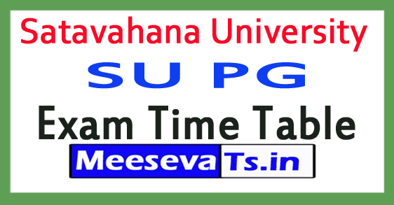 Satavahana University SU PG Exam Time Table 2017