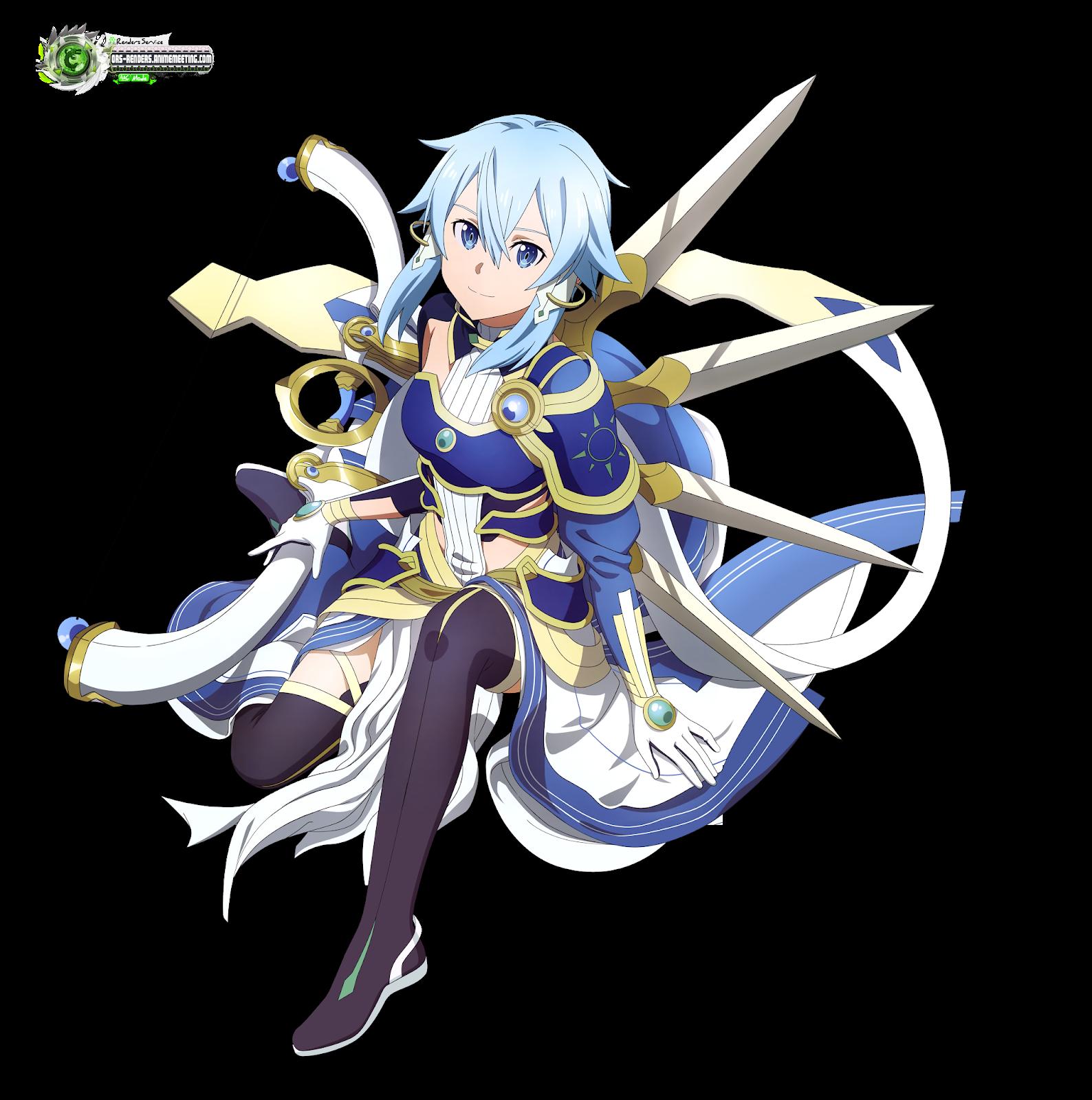 Sword Art Online:Sinon Solus Kakoiii Pose HD Render   ORS ...