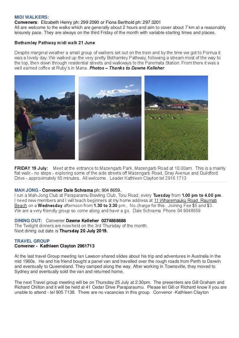 Probus Club of Kapiti Coast: Newsletters