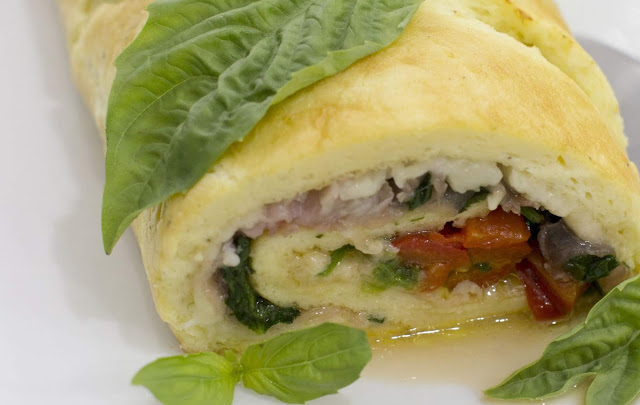 How to Make Egg Roulade with Spinach