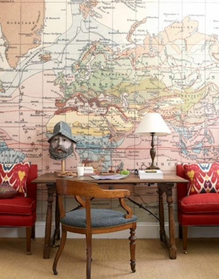 Add sophistication to a room with a world map wall mural cozy multi color vintage maps gumiabroncs Images