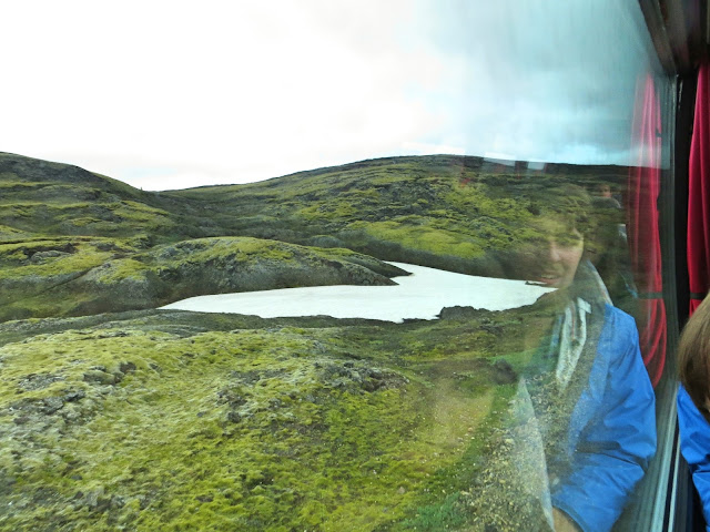 Iceland bus scenery