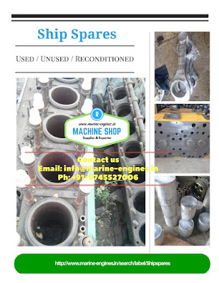 shipspares, marine spare, main engine parts, auxiliary engine parts, generator, marine, sale, reusable, ready to use, reconditioned, unused