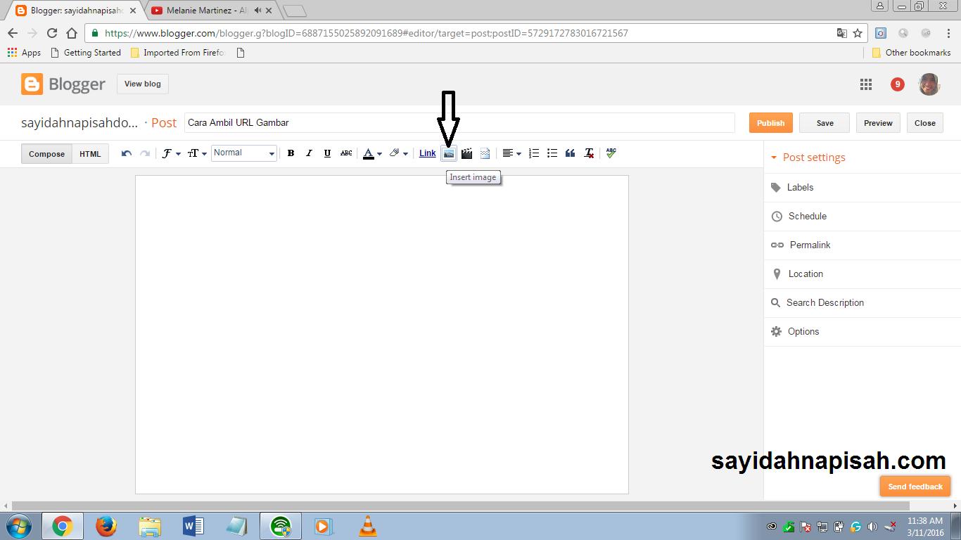 Cara Ambil URL Gambar