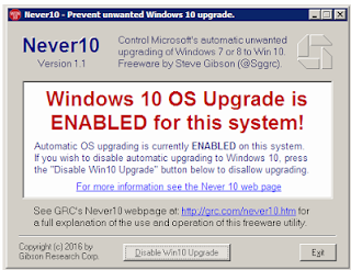 How to Disable/turn off Windows 10 Upgrade in Windows 7 and Windows 8 Forever