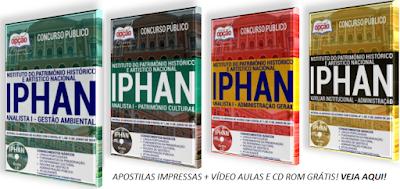 Apostilas concurso Iphan 2018