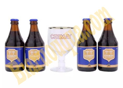 Hộp quà Chimay xanh tặng kèm ly uống bia