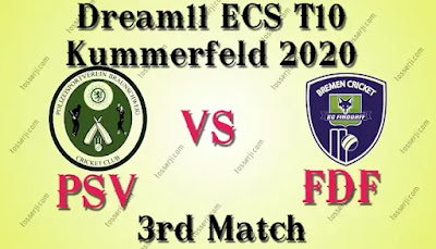 Who will win PSV vs FDF 3rd T10 Match