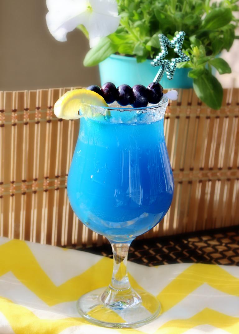 Blue Lagoon Mocktails Shaina Glenn