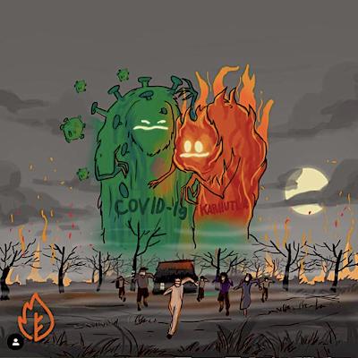 Kebakaran hutan dan lahan (KarHutLa) di tengah pandemi Corona